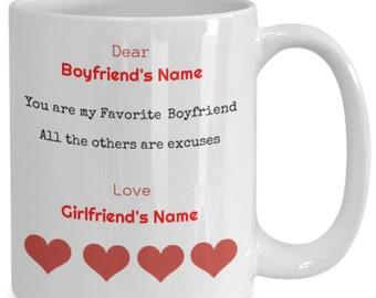Personalized girlfriend coffee mug from boyfriend