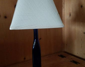 Square Cobalt Wine Bottle Lamp