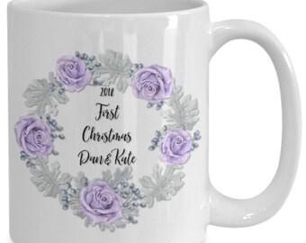 Newlyweds first christmas 2018 coffee mug