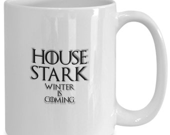 House of stark personalized game of thrones coffee mug for the fan of either game of thrones tv series/ video game