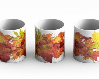 Autumn Leaves, leaves, mug, Samhain, Halloween, holiday mug, fall, seasonal, coffee mug, coffee cup, , fall leaves, leaf