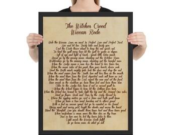Wiccan Rede Framed Poster