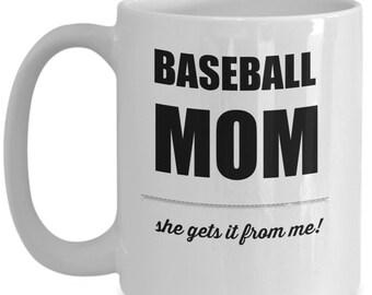 Baseball Mom | Coffee Mug | Coffee Cup | Proud Mom | Athlete | Sports | Baseball
