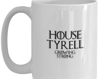 House of tyrell game of thrones coffee mug for the fan of either game of thrones tv series or video game