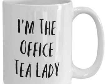 I'm the office tea ladt and I like to drink coffee from my white ceramic coffee mug I got from my secret santa,