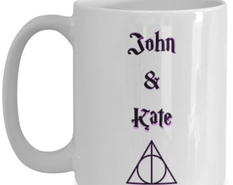 Personalized harry potter magical triangle after all this time? always, Couples ceramic coffee mug