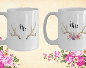 Mr and Mrs White Ceramic Coffee Mug |Wedding Gift | Engagement Gift | Anniversary| Newly Weds| Couple| Bride|Groom