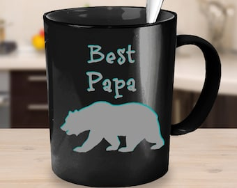 Papa Bear, fathers day, father, birthday, birthday gift, dad, mug, Coffee cup, dad mug, unique fathers day gift, step dad, step dad gift