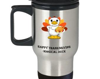 Happy Thanksgiving 14oz Stainless Steel Travel Mug