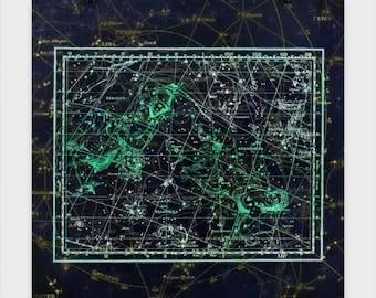 Perseus and Andromeda Star Chart Poster These star charts bring mythology to life in stunning accuracy.