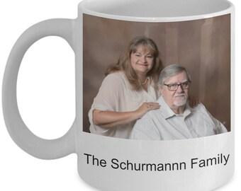 Personalized Christmas Card White Ceramic Coffee Mug