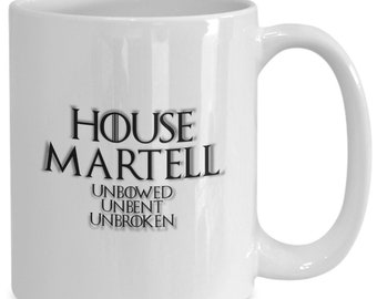 House of martell personalized game of thrones coffee mug for the fan of either game of thrones tv series/ video game