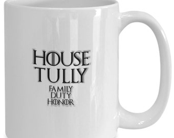 House of tully personalized game of thrones coffee mug for the fan of either game of thrones tv series/ video game