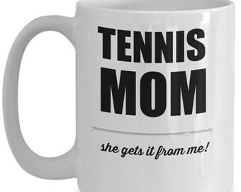 Tennis Mom | Coffee Cup | Mom Mug | Tennis | Athlete | Sports | Love
