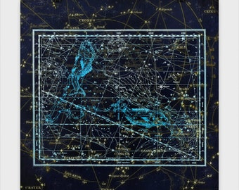 Pisces Star Chart Poster Experience the beauty of the Astrological world. These star charts bring mythology to life in stunning accuracy.