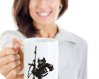 Undead Soldier, dad, brother, soldier, gamer, call of duty, armed forces, , zombie, coffee mug, shooter, birthday, boyfriend
