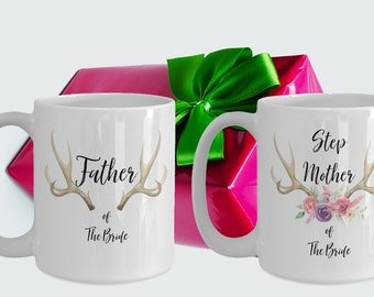 Step Mother and Father of the bride White Ceramic Coffee Mug |Wedding Gift | Engagement Gift | Anniversary| Newly Weds| Couple| Bride|Groom