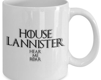 House of lannister personalized game of thrones coffee mug for the fan of either game of thrones tv series/ video game
