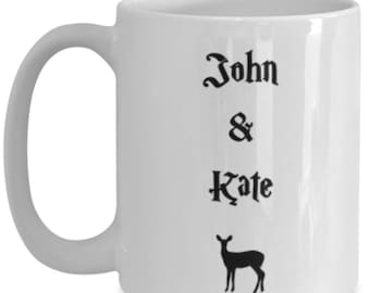 Personalized harry potter magical doe after all this time? always, couples ceramic coffee mug