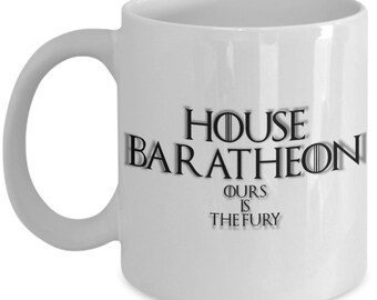 House of baratheon game of thrones coffee mug for the fan of either game of thrones tv series or video game