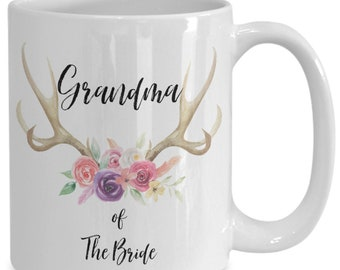 Grandma of the bride white ceramic coffee mug |wedding gift | engagement gift | anniversary| newly weds| couple| bride|groom