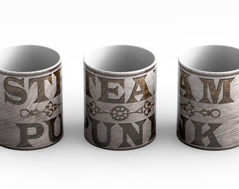 Steampunk Logo Coffee Mug is a great gift idea for those that embrace the steampunk lifestyle as well as a little sci-fi flair.