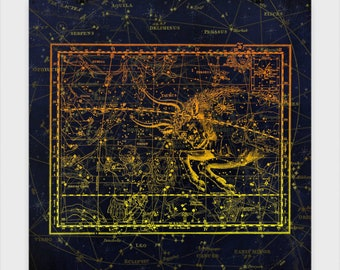 Taurus Star Chart Poster Experience the beauty of the Astrological world. These star charts bring mythology to life in stunning accuracy.