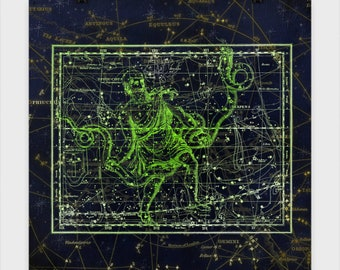 Serpens and Ophiuchus Star Chart Poster These star charts bring mythology to life in stunning accuracy.