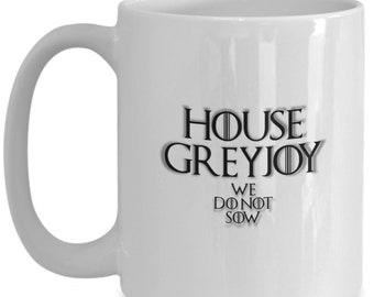 House of greyjoy game of thrones coffee mug for the fan of either game of thrones tv series or video game