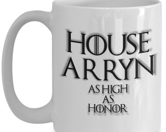House of arryn game of thrones coffee mug for the fan of either game of thrones tv series or video game