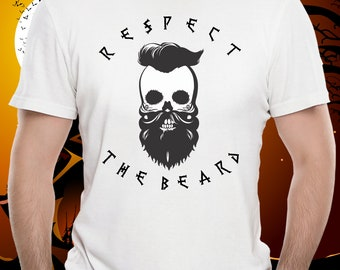 Respect The Beard,  step father, fathers day, mens shirt, father, birthday, dad, boyfriend, beard, unique fathers day gift, step dad