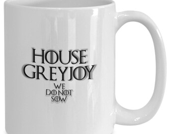 House of greyjoy personalized game of thrones coffee mug for the fan of either game of thrones tv series/ video game