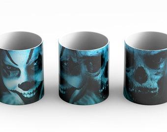 Creepy Halloween Mug, witch, mug, Samhain, Halloween, creepy, scary, holiday mug, fall, seasonal, coffee mug, coffee cup,