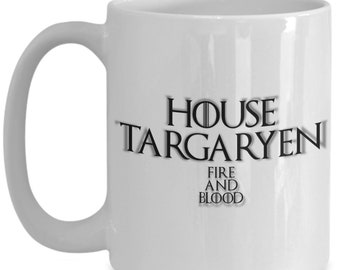 House of targaryen game of thrones coffee mug for the fan of either game of thrones tv series or video game