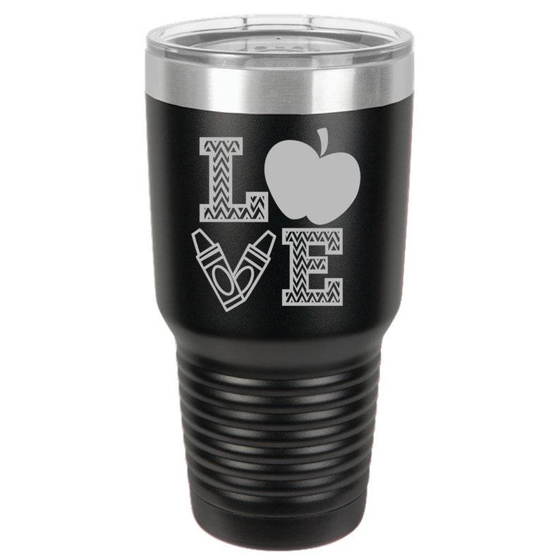 Fall school love for Teacher 30oz Ringneck Tumbler Laser image 0