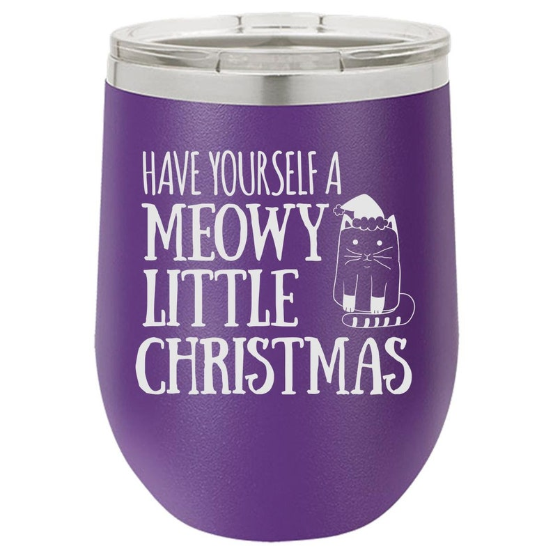 Christmas Wine Tumbler Engraved Glass Gift for Him Funny image 0