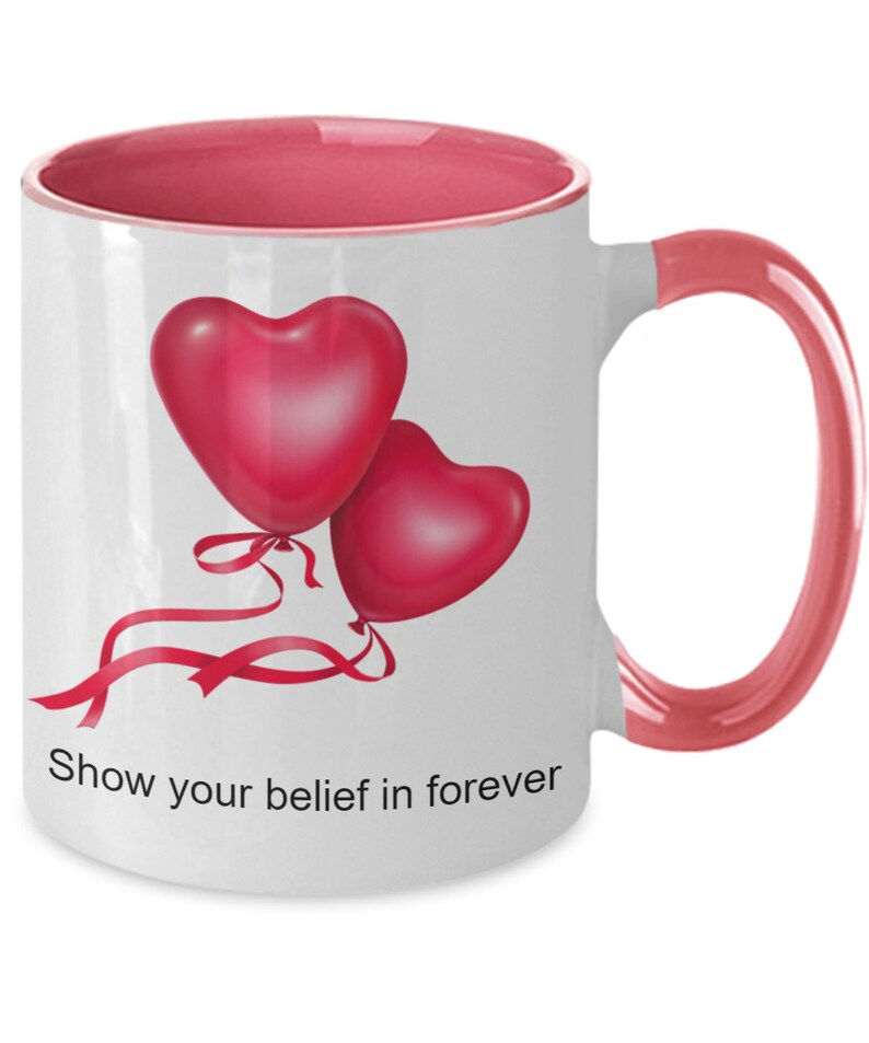 Show Your Belief In Forever  Personalized Ceramic Mug  image 0