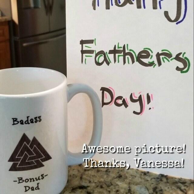 Badass Bonus Dad Fathers Day Father Birthday Gift Mug Coffee Cup Unique Stepdad