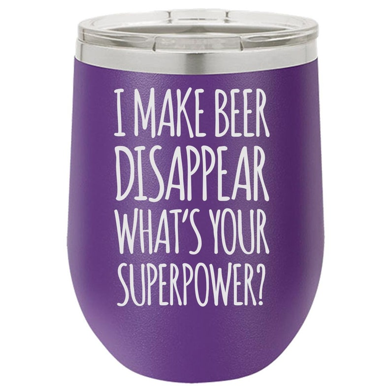Make Beer Disappear Tumbler Engraved Glass Gift for Him image 0