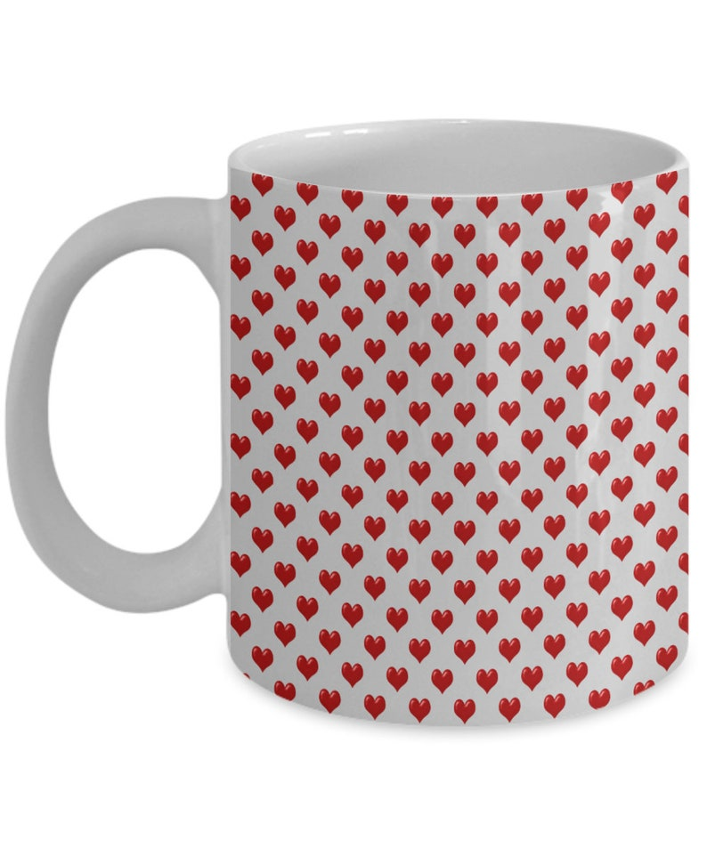 Valentine's day hearts for you mug gift for wife husband image 0