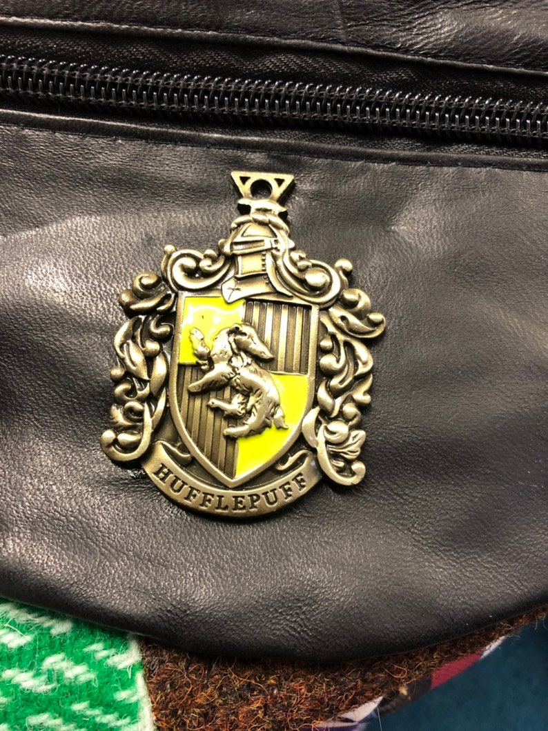 Harry Potter Hufflepuff Black leather Bum Bag Fanny Pack