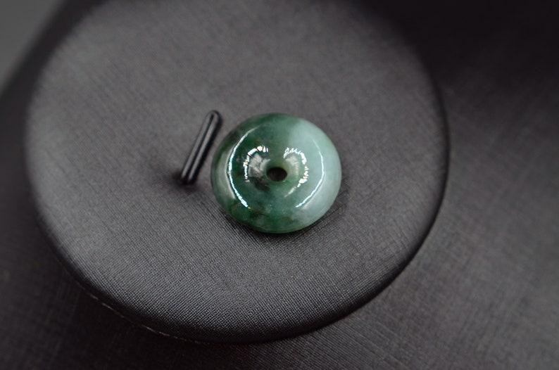 peace buckle jade pendant natural oil green necklace.Myanmar jadeite round pendant,jade donuts