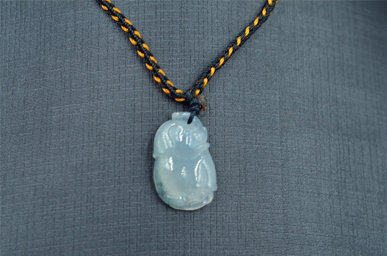 elephant jade necklace grade A Jade Jadeite Chinese jade pendant gift for kids