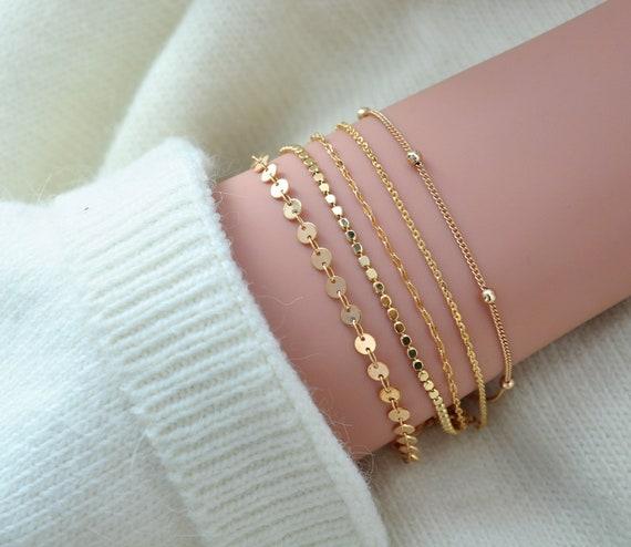 Simple Gold Chain 14K Gold 14K Gold Filled Dainty Bracelet Era Bracelet  Delicate Gold Bracelet Everyday Bracelet Minimalist Gold