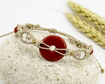 Red jaspe bracelet donuts