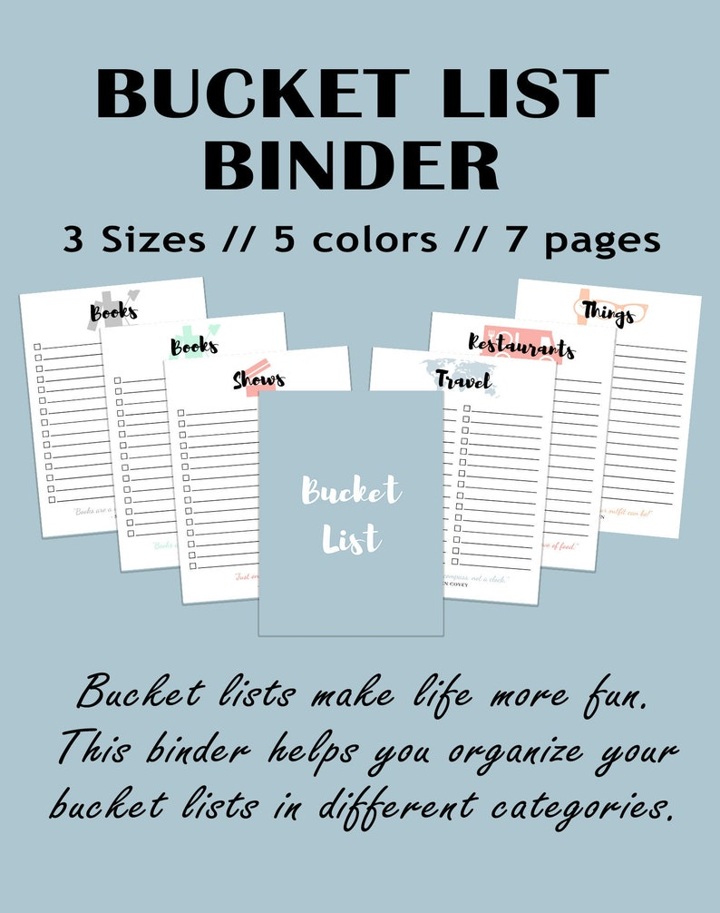 graphic relating to Bucket List Printable referred to as Bucket listing Printable Drive checklist Printable Aspiration Record Inserts Daily life Objectives Record Printable Everyday living Ambitions Eyesight Board record
