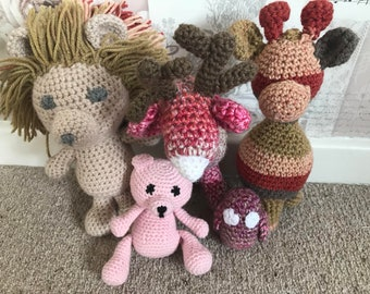 Hand Made Crochet Animals
