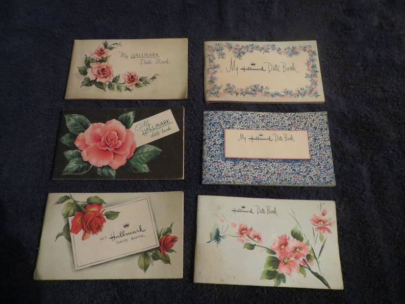 1948 1949 1951 1953 1954 1955 hallmark date book tuttle and rockwell co  hornell ny
