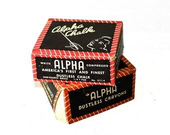 Alpha Dustlass Crayons Vintage Chalk