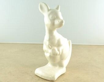 Vintage White Kangaroo Planter